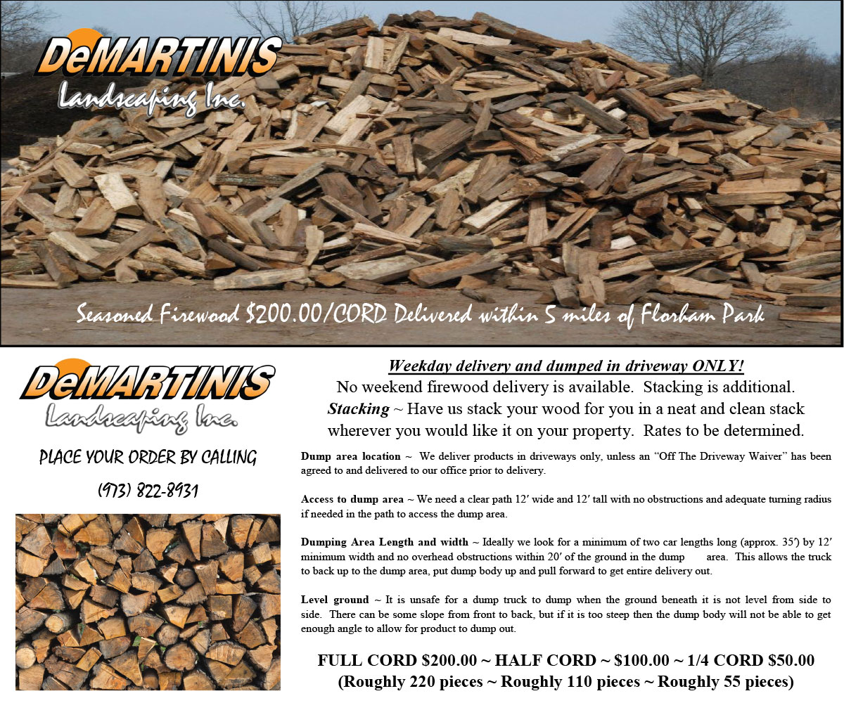 Season Firewood Delivery Special
